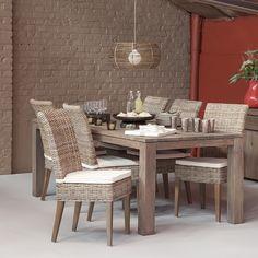 Beautiful Fabulous Chaise En Abaca Avec Pitement Bois Exotique Chaises Rotin With Osier Gris
