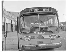 (1962) LAMTA No. 5423 New Bus, Bus Terminal, Run Today, Laurel Canyon, Bus Driver, Busses, Bus Stop, Diesel Engine, Rear Window