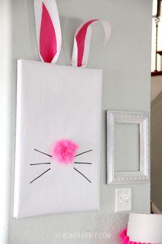 DIY Easter Crafts : DIY Easter Bunny Picture Frame