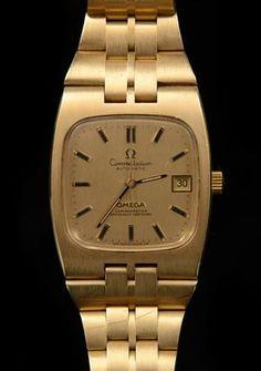 Omega Constellation men's watch, 18 K