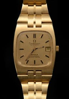 Omega Constellation men's watch, 18 K