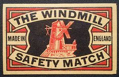 VINTAGE MATCHBOX LABEL FROM GREAT BRITAIN | eBay