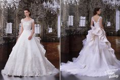 A sweet bridal ball gown from Hartnell London with feminine details presenting regal elegance.