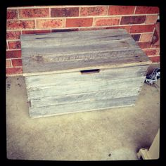 Shoe/wood box made out of old fence palings