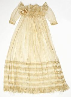 Christening Dress  Date: ca. 1904 Culture: American.  I just received four gowns from this same era, now, how do I preserve/display them........Mrs. Richelderfer