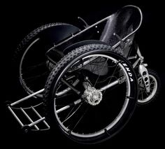 Trekinetic is a UK based company who builds custom off-road and city manual wheelchairs. One of their key points of design is the chair's ability to change it's wheel camber to increase off-road stability, gas shocks and it's higher performance braking system.