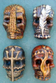 Skull Masks: Spirit of the Four Elements