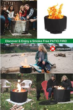 Check out our line of fire pits that produce virtually no smoke when burning.