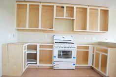 Installing Kitchen Cabinets - Momplex Vanilla Kitchen | Ana White Woodworking Projects