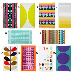 hit the beach in style with these 10 colorful, modern beach towels.