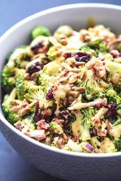 Easy tasty Best Broccoli Salad Recipe (No Mayo! Best Broccoli Salad Recipe, Low Carb Broccoli Salad, Salad Recipes With Bacon, Pasta Salad Recipes, Salad With Broccoli, Brocolli Salad With Bacon, Vegetarian Broccoli Salad, Soup Recipes, Recipies