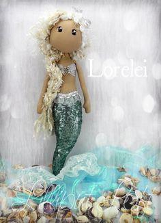 Lorelei - One of my Petite Pippin Siren Dolls © Lilliput Loft 2013
