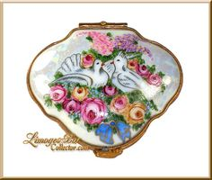 Doves Among Roses Limoges Box (Retired)