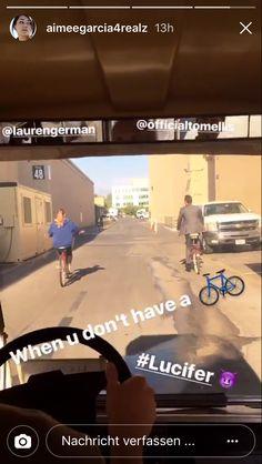 Poor Aimee, we should buy her a bike!