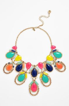 Colorful statement necklace from Kate Spade