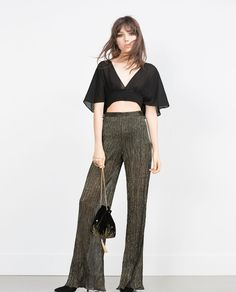 Image 1 of STUDIO CROPPED TOP from Zara