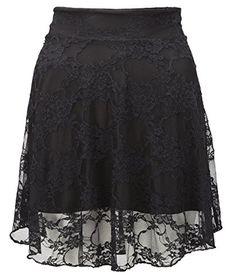 New Ladies Plus Size Floral Lace Skater Skirt Womens Flare Mini Skirt Size  6 -20 f2e768da0