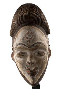 Punu mask | Punu | African Art | African Tribal Art | Folk Art | Punu Tribe | Tribal Mask | African Tribes | African Mask Art wall and deco #TribalMask #FolkArt #Art #AfricanTribes #AfricanMaskArt #PunuMask #PunuTribe #AfricanArt #africa #Punu