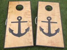 Nautical Anchor Cornhole Board Set by WGCornhole on Etsy