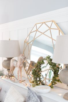 Christmas Inspiration ( Favorite Homes ) Our Simple Christmas Porch from Last Year. A huge roundup of all my favourite Christmas homes from Christmas Decor, White Decor, Holiday Decorating, Simple Decorating, Easy Decorating Frosted Christmas Tree, White Christmas Trees, Christmas Porch, Christmas Mantels, Pink Christmas, Simple Christmas, Cute Apartment Decor, Christmas Bedroom, White Decor