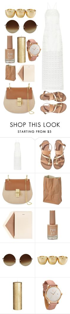 """""""boohoo"""" by alxppt ❤ liked on Polyvore featuring Maiyet, Ancient Greek Sandals, Chloé, Rosenthal, Dempsey & Carroll, New Look, Victoria Beckham, John Lewis and MVMT"""