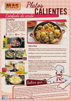 #Infografia con la #receta de estofado de cerdo, ¿almorzamos? #InfoRecetas #carne