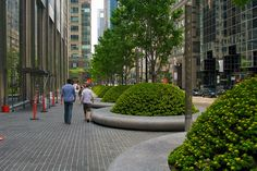 Street Planters by Christopher.Tollefson, via Flickr Urban Furniture, Street Furniture, Picnic Table Plans, Urban Park, Landscape Architecture Design, Plant Design, Urban Planning, Urban Landscape, Urban Design