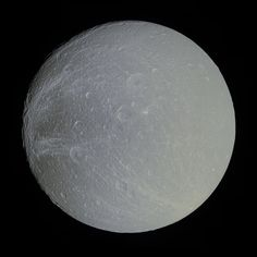 dione | APOD: 2012 November 5 - Saturns Moon Dione in Slight Color