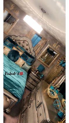 decor dublin decor xmas trending in bedroom decor decor cozy decor gold bedroom decor decor sims 4 cc decor over headboard Glam Bedroom, Sparkly Bedroom, Blue And Gold Bedroom, Silver Bedroom Decor, Bedroom Romantic, Couple Bedroom, Bedroom Black, Trendy Bedroom, Bedroom Wall
