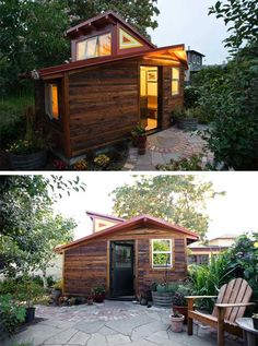 Deeds Cottage: a small studio, salvaged and recycled