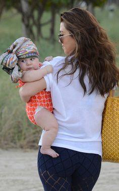 Kourtney Kardashian's Baby Daughter, Penelope, Rocks Colorful Head Wrap on Family Trip to the Beach | E! Online Mobile