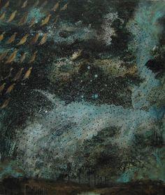yama-bato:  Natalya Zaloznaya Chanson de nuit   Evening song  2009 acrylic on canvas