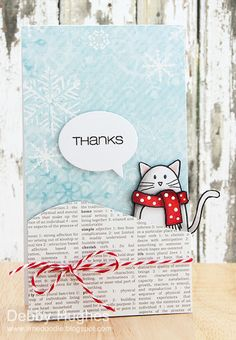 Thanks Cat by Lime Doodle Design