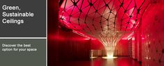 Conga Room ceiling with red LED lights on!