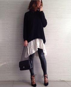 Dress + Knit Layering