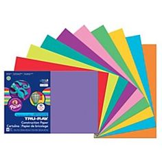 Shop Pacon 102941 Tru-Ray 12 inch x 18 inch Assorted Bright Color Pack of Construction Paper - 50 Sheets. Arts And Crafts Projects, School Projects, Construction Paper, Good Music, Recycling, Drawings, Bright, Curling, Colors