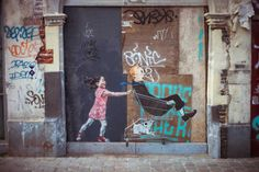 Street art by Ernest Zacharevic