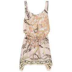 Emilio Pucci Printed silk beach dress ($1,105) ❤ liked on Polyvore