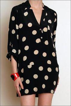 Mason Silk Oversize Polka Dot Tunic