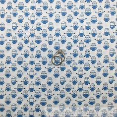 BonEful Fabric Cotton Quilt White Blue Minion Movie Character Boy Xmas USA SCRAP #QuiltingTreasures