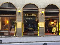 yellow bar Florence Food, Florence Tuscany, Christmas In Italy, Northern Italy, Travel Destinations, Traveling, Bar, Yellow, Florence