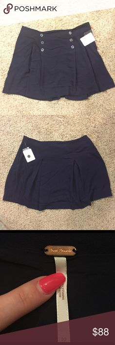 Free People Navy Sailor Skirt Free People Navy Sailor Skirt. Side zipper closure Free People Skirts Mini