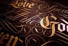 Seb Lester is a designer and artist whose clients include Apple, Nike, Intel, Absolut Vodka, Levi's & The New York Times. Typography Letters, Hand Lettering, Seb Lester, Design Art, Graphic Design, Type Illustration, Gold Ink, Metallic Gold, Gold Foil