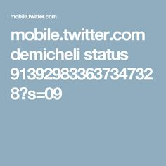 mobile.twitter.com demicheli status 913929833637347328?s=09