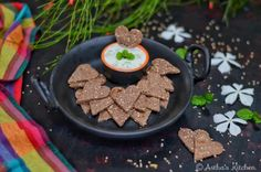 BAKED RAGI CRACKERS WITH SESAME SEED &CUCUMBER DIP – Astha's Kitchen Cucumber Dip, Millet Recipes, Crackers, Hummus, Dips, Seeds, Baking, Ethnic Recipes, Kitchen