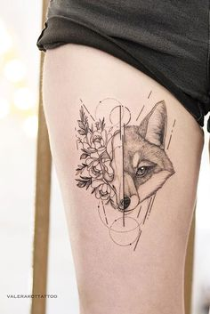 Dog Tattoos, Mini Tattoos, Animal Tattoos, Sexy Tattoos, Cute Tattoos, Body Art Tattoos, Tattoos For Women, Tattos, Fox Tattoo Design