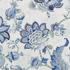 Duralee Fabric 42479 5 Blue Crestmore Traditional Prints Linen, Rayon USA Wyzenbeek Method Horizontal: 27 inches and Vertical: 27 inches 54 inches - My Fabric Connection - Blue And White Fabric, Green Fabric, White Fabrics, Ikat Fabric, Floral Fabric, Sage Color, Color Blue, Pattern Code, Fruit Print