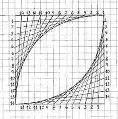 El blog de la profe: Ilusiones lineales. String Wall Art, Nail String Art, String Crafts, String Art Templates, String Art Patterns, Geometric Drawing, Geometric Art, Broderie Bargello, Arte Linear