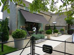 daylesford farm shop. love the landscaping and exterior!
