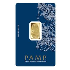 5 gram Gold Bar PAMP Suisse Lady Fortuna Veriscan .9999 Fine (In Assay)